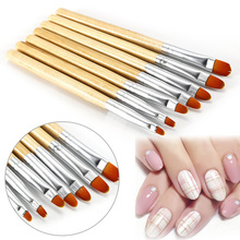 ELECOOL 7pcs Painting Wooden Brush Nail Art UV Gel 3D Manicure Design Draw Paint Pen Non-corroding Nail Polish Builder(China)