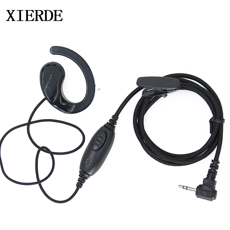 D-Shape PTT Earpiece for Motorola Radio Talkabout Walkie Talkie 2.5mm 1-Pin USA