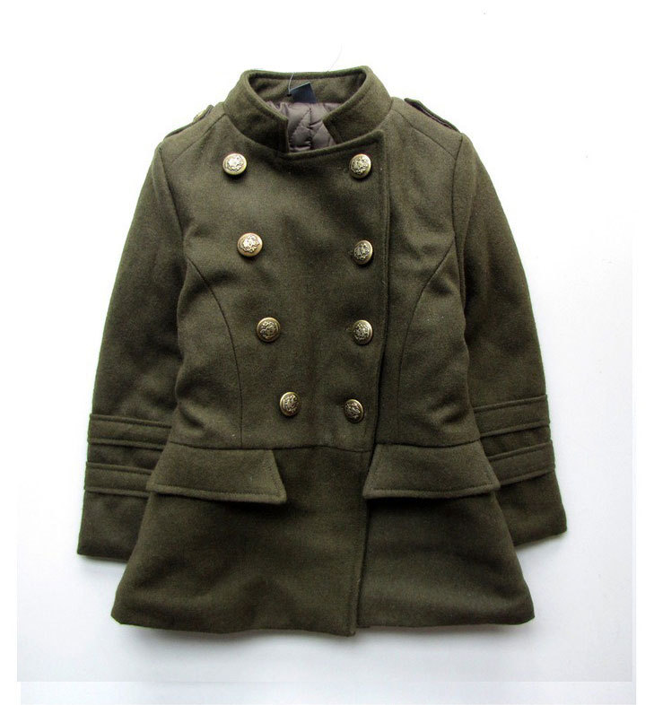 meninas little girls trench coat kids girl windbreaker jacket 2017 toddler middle girl woolen warm coat outerwear winter autumn<br>