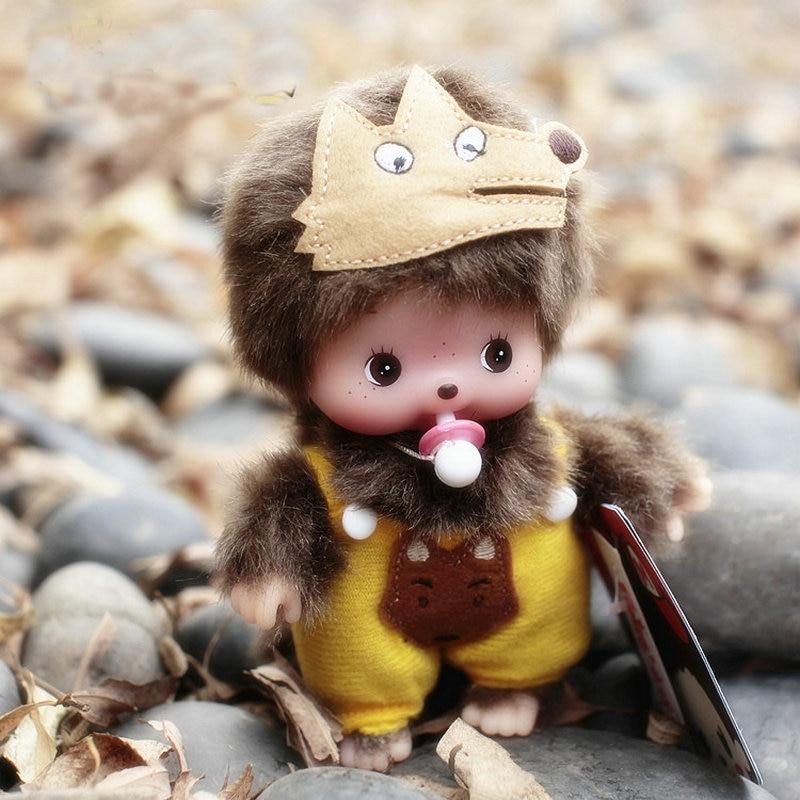 15CM Kawaii Monkiki Grey Wolf Baby Doll Monchichi Dress Plush Stuffed Dolls Soft Toys For Kids Girls Birthday Newyear Gifts <br><br>Aliexpress