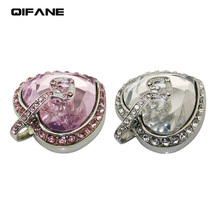 QIFANE 32GB 64G Crystal heart U Disk 4G 8G Jewellery pen drive 16G business gift USB Flash Drive memory stick Free shipping