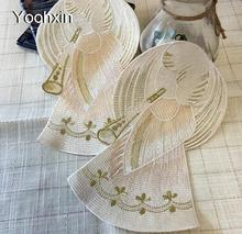Luxury satin table place mat cloth embroidery placemat pad pan glass coaster dining tea cup doily drink mug holder kitchen(China)