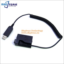 5V USB Drive Cable Power ACK-E8+DR-E8(LP-E8 LP E8 Dummy Battery DC Grip) for Canon EOS 550D 600D 650D 700D T2i T3i T4i X4 X5 X6i