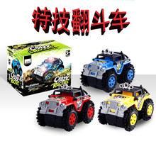 Stuntmen dump-car 4wd police car electric automobile race puzzle toy car mold boy gift(China)