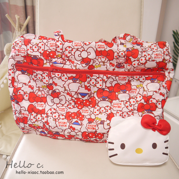 Cartoon My Melody Cinnamoroll Pompompurin Anpanman Portable Foldable Luggage Bag Travel Bags Trolley bag for women
