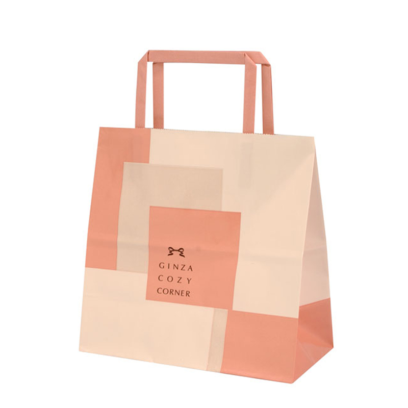 pink kraft paper bag