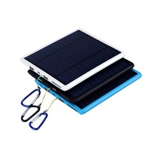 Portable Solar power bank 20000mah mobile phone power bank 20000 mah external battery charger backup power supply for tablet pc(China)