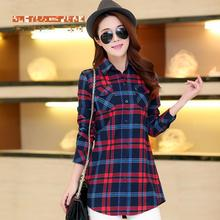 Buy 2016 Hot Sale Autumn Winter Ladies Female Casual Cotton Long Sleeve Plaid Shirt Women Slim Outerwear Blouse Tops Blusas for $11.13 in AliExpress store