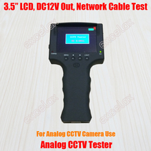 "3.5"" LCD CVBS Analog Camera CCTV Tester 640x480 Video Tester Monitor BNC DC 12V Out Network RJ45 Cable Test Rechargeable Battery"