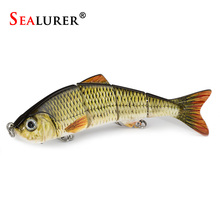 SEALURER 1pcs Fishing Lures Swimbait Crankbait Hard Bait Slow 5Colors Fishing Wobbler Isca Artificial Lures Fishing Tackle(China)