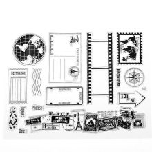 1PC DIY Transparent Silicone Clear Rubber Stamp Sheet Cling Scrapbooking Craft Card New