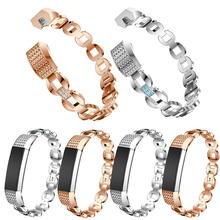 Bands for Fitbit Alta HR / Alta Replacement Metal Small Large Super Classy Updated Wrist band Silver Rose Gold(China)