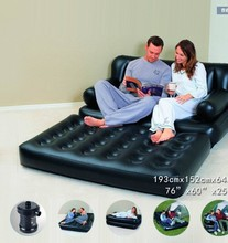 Genuine Bestway 75038 five in one multifunctional folding inflatable sofa bed +62056 European standard electric pump b37