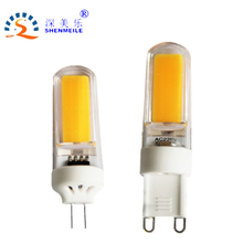 10pcs/lot COB G9 Led G4 lamp Dimmable led bulb High efficiency Cob 12v AC DC 110V 220V AC crystal Chandelier light(China)