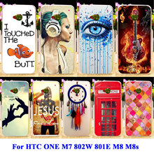 AKABEILA Soft TPU Hard PC Covers For HTC ONE M7 802W 802D Dual Sim 801E 801S Single Sim M8 M8s M8x Case Bag Dreamcatcher Shell(China)
