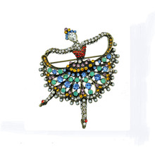 Ballet pin dance girl Brooch Costume Accessories retro vintage brooch Valentine's Day gift jewelry costume jewelry brooches