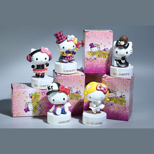 8-9CM 5pcs/lot Cute Kawaii Japanese anime figure HELLO KITTY 40th Anniversary ver.kids toys for girls best model toys