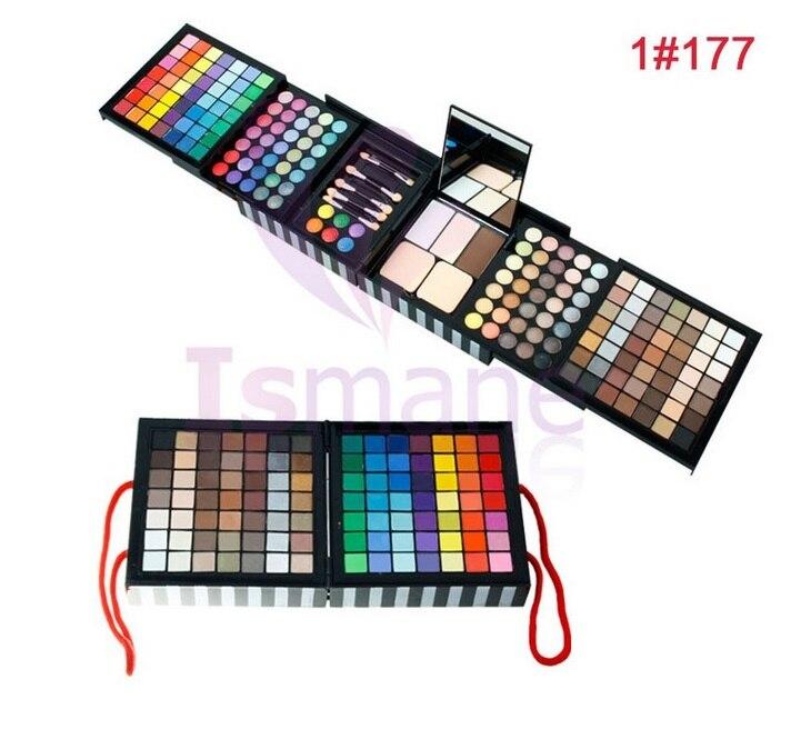 ISMINE 177 Color Eyeshadow Pallete Makeup Set Matte Cheek Blush Lip Gloss 3 Layer Professional Eye Shadow Make Up Cosmetics Kit<br>