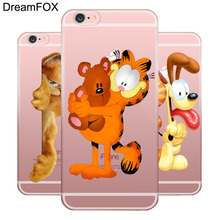 L055 Garfield Soft TPU Silicone  Case Cover For Apple iPhone 7 6 6S Plus 5 5S SE 5C 4 4S