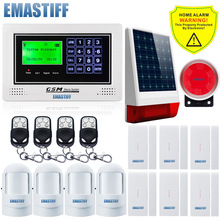 GSM App SIM security alarm system Wireless solar outdoor light siren Gsm SMS alarm system simple menu display for Home Security