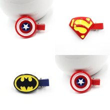 Superman Batman Captain America Hairpins Hair Ornaments Hair Jewelry Children Hair Accessories Girls Hair Clip Kids Barrettes(China)