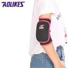 AOLIKES 1 Pair Adults Child Kids Sport Knee Pads Elbow Brace Kids Adjustable Padded Elbow Support Brace Pads Support Gym Fitness(China)