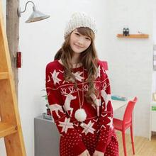 Animal Design Outerwear Ladies Gift Sweaters Christmas Deer Printing Knitted Pullovers Christmas Costumes Burderry Women