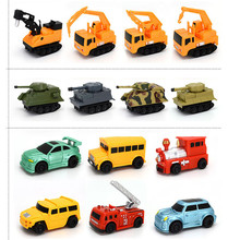 New Engineering Vehicles Truck MINI Magic Pen Inductive Children's Train Tank Toy Car Draw Lines Induction rail Track Car Kids