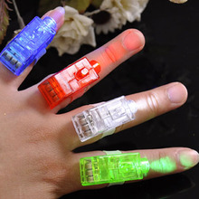 8 Color LED Laser Finger Ring Lights Beam Torch Party For Birthday Christmas Halloween Party YH-17(China)