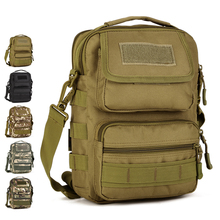 "Multi-purpose Shoulder Bags Nylon Camo Climbing Travel Camping Hunting Cycling Messenger Bag Tactical MOLLE 7"" Tablet PC(China)"