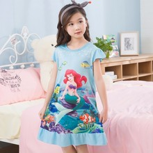 Buy Kids Party Princess Nightgown New WAVMIT 2018 Children Clothing 3D Print Summer Dresses Girls Baby Cotton Girl Sleepwear Home for $3.99 in AliExpress store