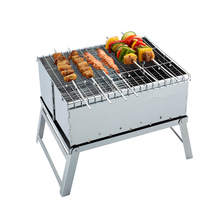 High Quality Stainless Steel Mini BBQ Grill Charcoal Grill Outdoor Portable Folding Barbecue, BBQ Grills-002(China)