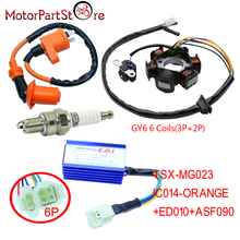 Magneto Stator Coil Performance CDI Box Ignition Coil Spark Plug for GY6 150cc ATV Quad Go Kart Dirt Pit Bike Scooter Moped *