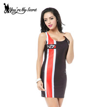 [You're My Secret] HOT Sundress Fashion Women MASS EFFECT N7 Print Galaxy Dress NEW MADE TO ORDER Sleeveless Wholesale Dress