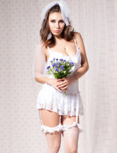 Cj88058 White bridal lace woman underwear fashion sexy lingerie for women special design hot sale babydoll lingerie sexy(China)