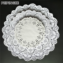 100pcs 4.5''6.5'' 8.5''White Round Lace Paper Doilies Doyleys Vintage Coasters Placemat Craft Wedding Christmas Table Decoration(China)