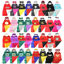 Boy Girl Kids Children Cape Christmas Halloween Party Witch Superhero Marvel The Avengers Cloak Gown Robe and MaskGift For Kids