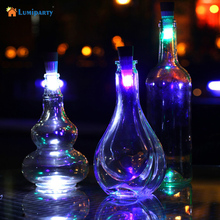 Lumiparty Magic Cork Shaped USB Rechargeable Wine Bottle Night light cork stopper cap lamp creative romantic cork lights(China)