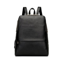 100% Real Genuine Leather Women Backpack Teenage Girls Cowhide School bag Strap Laptop Daily Backpack Top Quality Handcraft Bag(China)