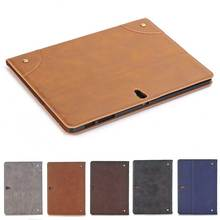 "Top Grade Retro Business Stand Leather Case for Samsung Galaxy Tab S 10.5"" Book Card Smart Cover for Samsung Tab S T800 T805(China)"