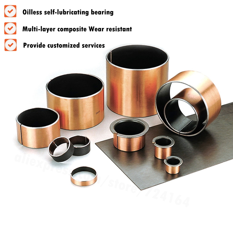 2pcs New SF-1 4550 Self Lubricating Composite Bearing Bushing Sleeve 50*45*50mm