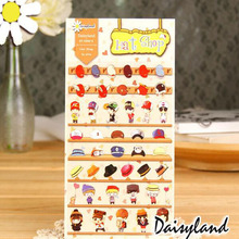 AB09 Kawaii Mini Hat Cool Boy Shop Sticker Diary Phone Notebook Album Decor Stick Label Adhesive Scrapbooking Craft DIY Stickers