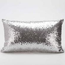 Rectangular sequins pillowcase silver Sofa Bed Home Decoration Festival Pillow Case Cushion Cover Home Throw Pillow case D38JL12