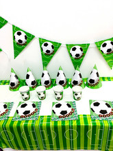 38PCS/LOT FOOTBALL SET FOOTBALL DISHES KIDS BIRTHDAY PARTY FAVORS HAPPY BIRTHDAY PARTY SET SUPPLIES FOOTBALL PAPER PLATE(China)