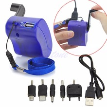 Dynamo Hand Crank Generator USB Cellphone Emergency Charger For PDA MP3 For Samsung -R179 Drop Shipping