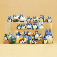 1pcs 20 Style Blue Totoro Figure Toys DIY Miyazaki My Neighbor Totoro Resin Action Figures Classic Toys Micro Landscape for Kids(China)