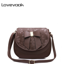 LOVEVOOK brand women shoulder bag female saddle bag with a bow PU fashion ladies messenger bag NEW spring crossbody bags