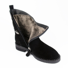 VALLU 2018 Winter Shoes Women 눈 Boots Natural Suede Crystal 장식 Lady Warm Ankle Boots 세 색(China)