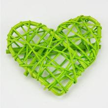 10PCS/Lot 6/7/8CM New Arrival Heart For Christmas Birthday Party & Home Wedding Party Decoration Rattan Ball 10 Colors(China)