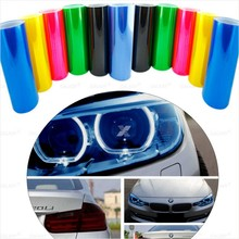 "30cmx1m/12""x40"" 12 Colors Auto Car Light Headlight Taillight Tint Vinyl Film Sticker Easy To Stick The Whole Car Decoration"